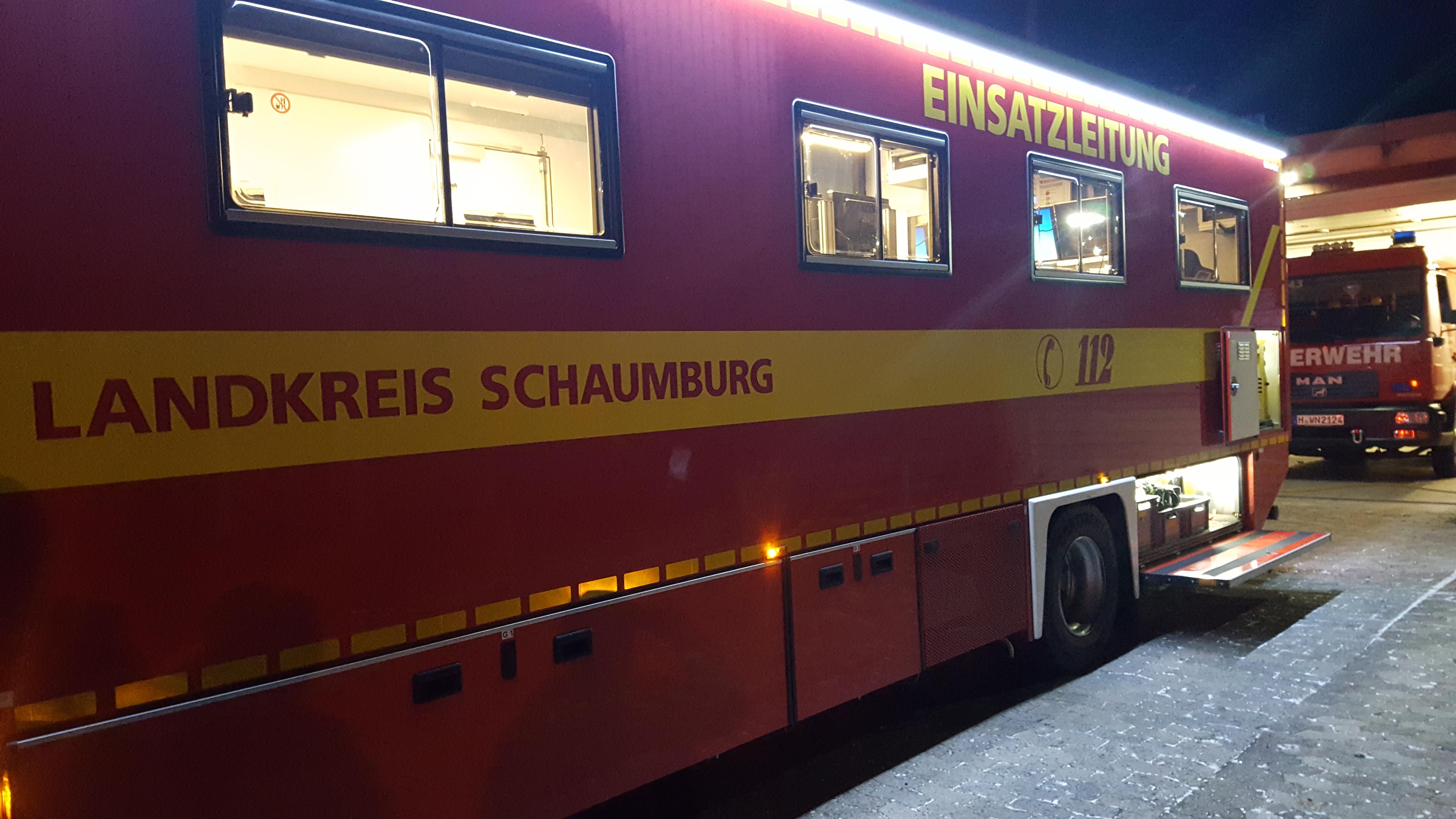 Einsatzleitwagen des LK Schaumburg zu Besuch in Winninghausen