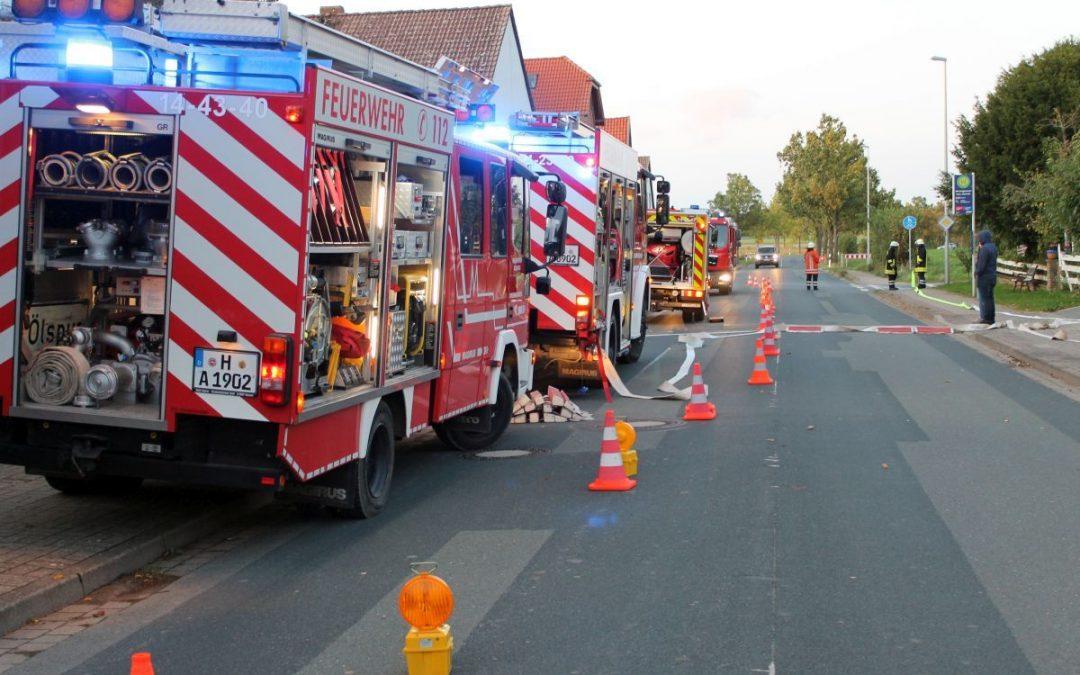 Großer Einsatz in Winninghausen – Nur eine Übung